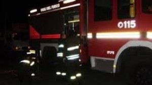 pompieri vigili fuoco notte