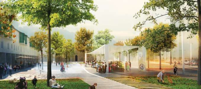 Piazza Isolotto rendering