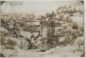 Leonardo-da-Vinci-Paesaggio-5-agosto-1473-Firenze-Gabinetto-Disegni-e-Stampe-degli-Uffizi-1