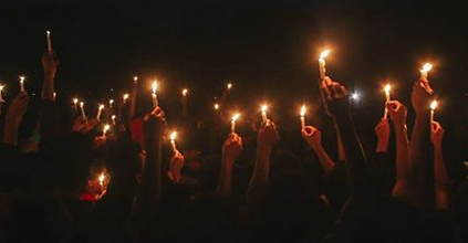 fiaccolata candele